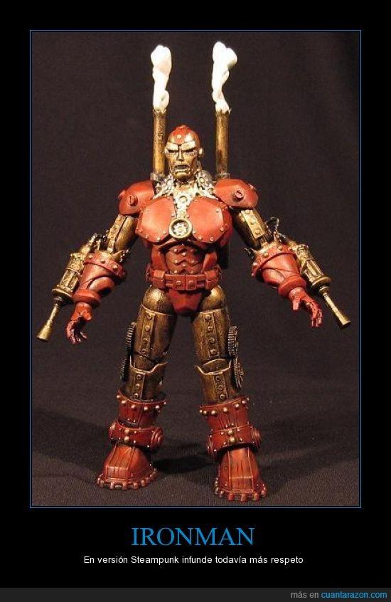 armadura,iron man,Ironman,nivel,Steampunk