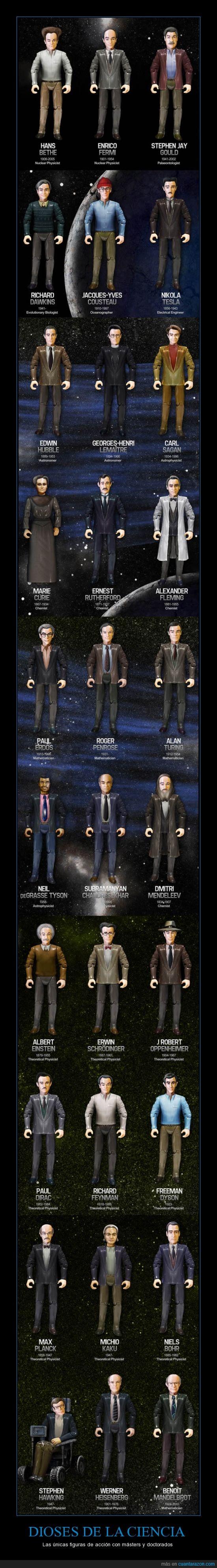 accion,ateismo,ateos,brillantes,ciencia,cientificos,dioses,doctorado,figuras,juguetes,maestria,mentesm genios,muñecos