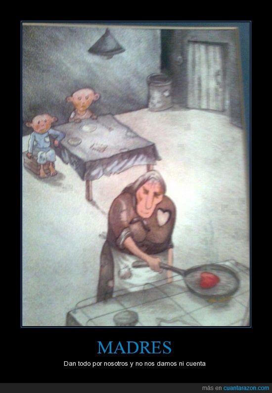 cocina,corazon,hijo,madre,niño