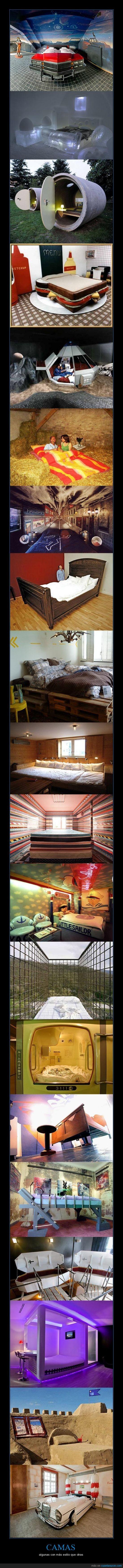 camas,coche,diseño,dormitorios,habitacion