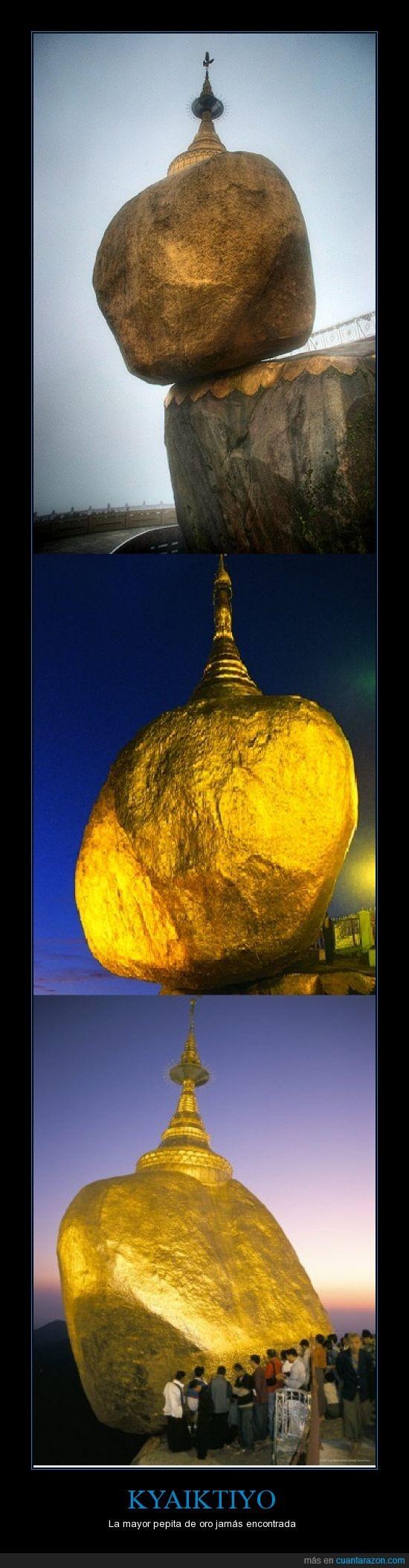 enorme,grande,kyaiktiyo,pecado,roca de Oro
