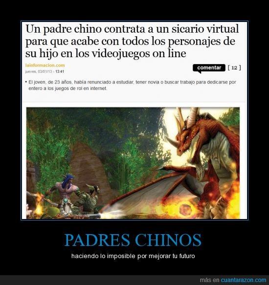 chino,cibersicario,juegos de rol,matar,online,padre,personaje,sicario
