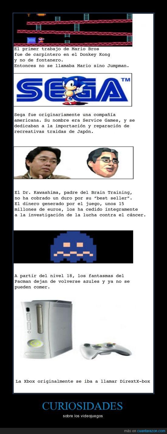 DirextX-box,Dr. Kawashima,Fantasmas Azules,Mario,Nivel 18,Pacman,Sega,Xbox