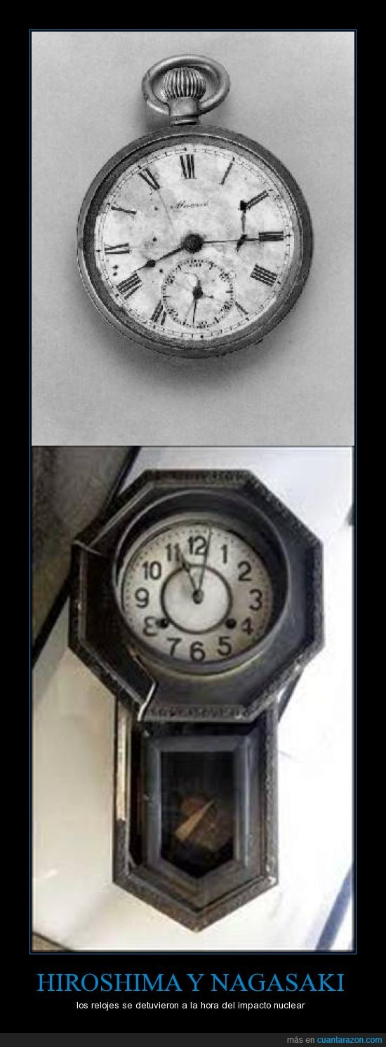 bomba,hiroshima,impacto,inocentes,japón,nagasaki,nuclear,reloj,relojes