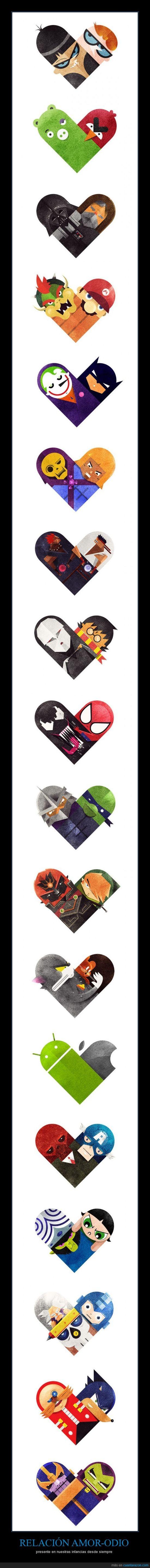 amor,android,apple,bellota,chicas,dexter,jerry,mojo jojo,ninjas,odio,sonic,superpoderosas,tom,tortugas