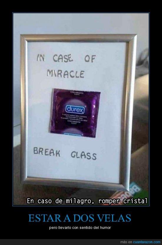 condon,romper en caso de milagro,triste