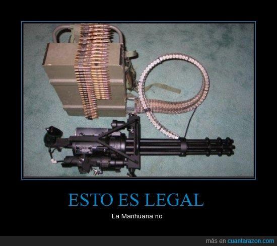 armas,automatica,ilegal,legal,marihuana,pistola