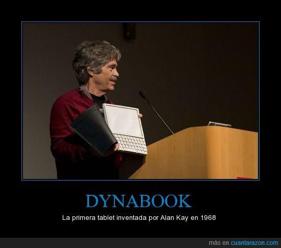 1968,Alan,dynabook,Kay,tablet,tecnología