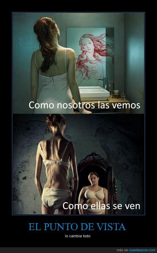 anorexia,autoestima,delgada,diosa,espejo,gorda,hombres,mujeres