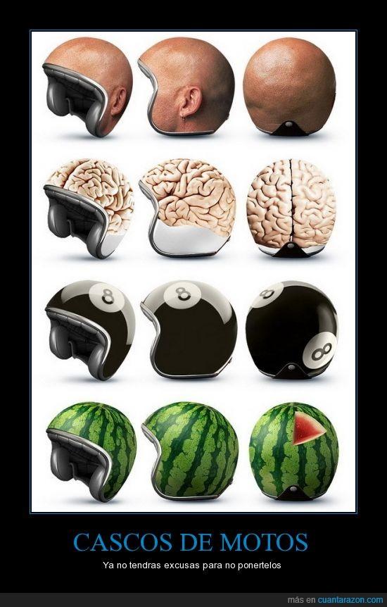 cabeza,cascos,moto,sandia