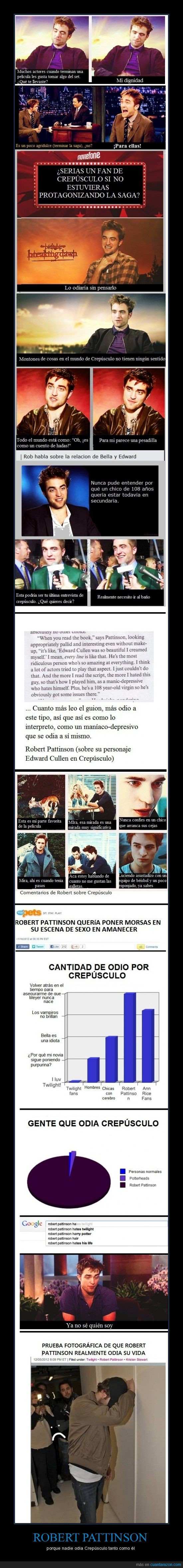 Crepúsculo,cullen,Edward,odia,Robert Pattinson,se canso de brillar,twilight