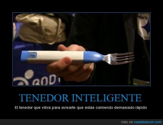 adelgazar,comer,inteligente,rapido,tenedor,vibra,vibracion