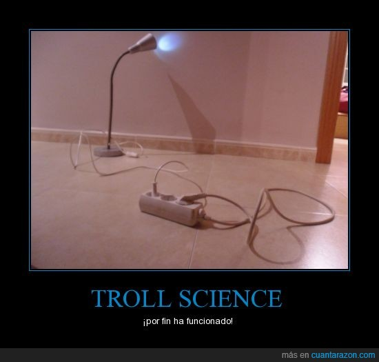 adapta,alargo,elecricidad,enchufe,gratis,lampara,luz,problem?,troll science