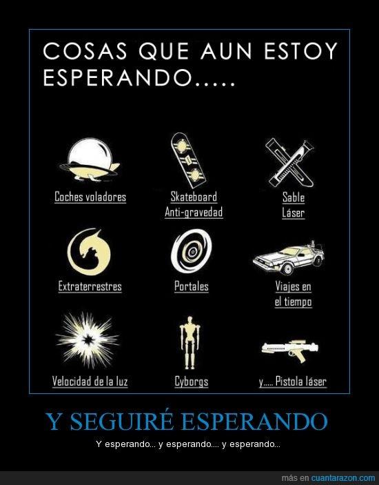 aeropatin,alien,coche,cyborg,delorean,futuro,laser,portal,sable,volador