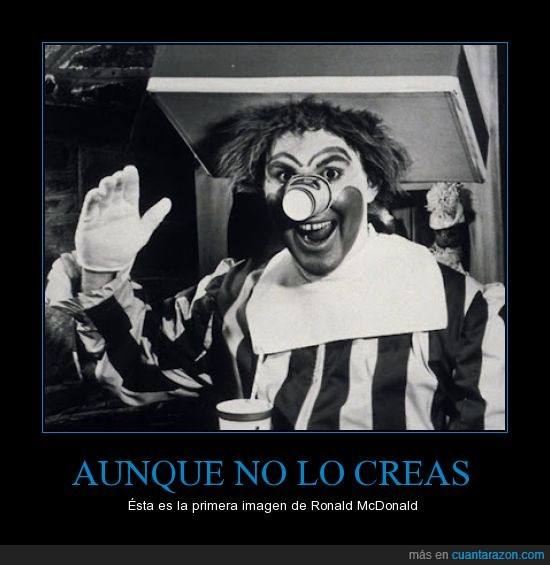 McDonalds,Me dio miedo D:,payaso