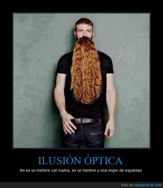 barba,hombre,ilusion optica,mujer,pareja