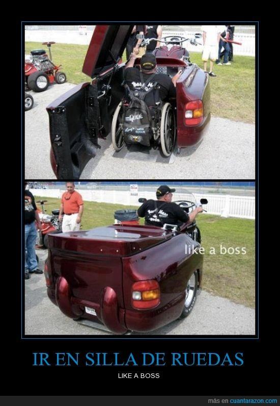 coche,engancha,moto,paralitico,pickup,ruedas,silla