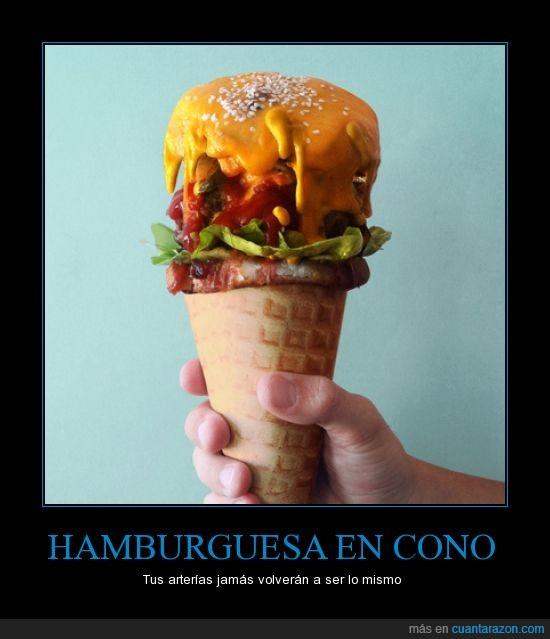 arterías,comer,cucurucho,engordar,Hamburguesa,helado
