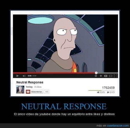 dislike,futurama,like,neutral,response,youtube