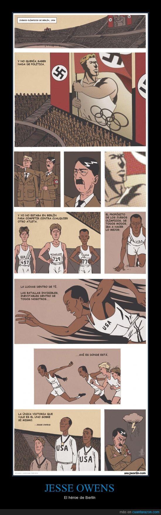 1936,4 medallas de Oro,Adolf Hitler,Atletismo,Berlín,Jesse Owens,Juegos Olímpicos