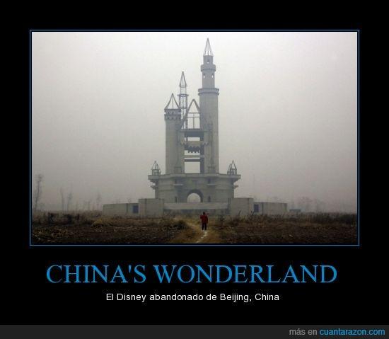 Abandonado,China,construir,Disney,medio