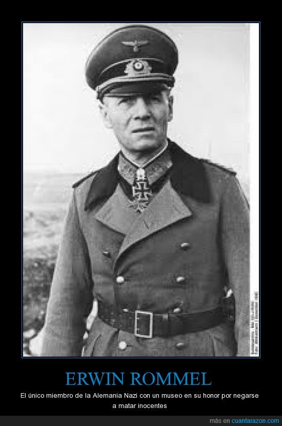 aleman,erwin rommel,honor,inocente,matar,museo,nazi