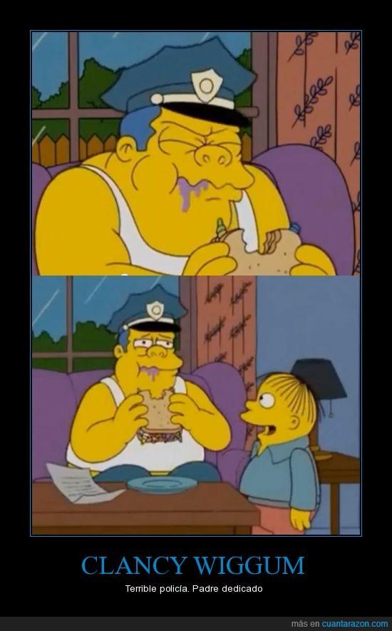 bocadillo,chincheta,clancy,los simpsons,no es un mal padre,OH POR DIOS PORQUE TANTO DOLOR,ralph,wiggum