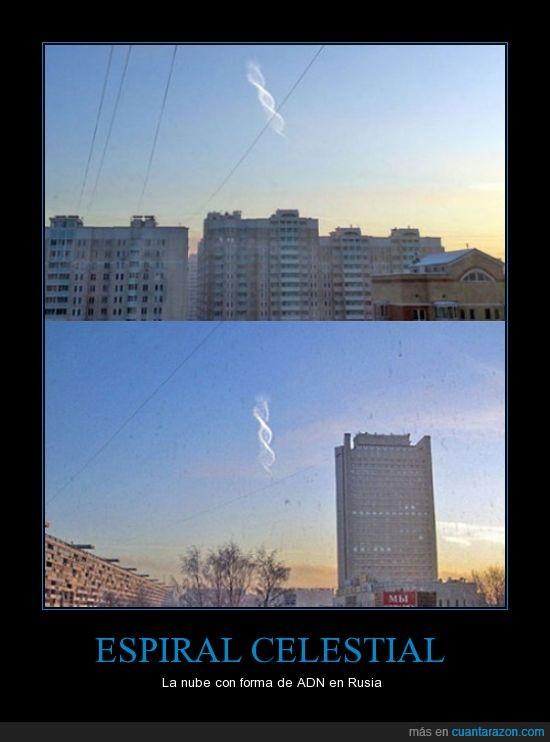 adn,espiral celestial,forma,nube,rusia