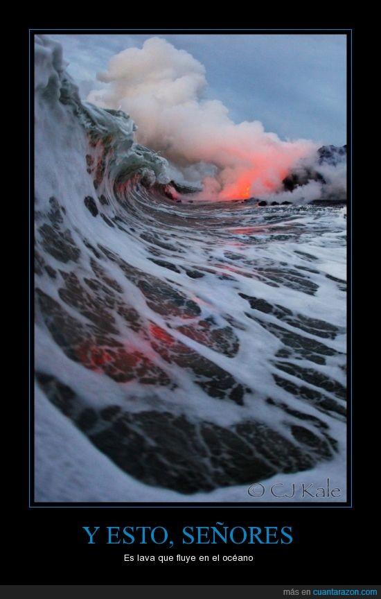 agua,lava,mar,oceano,ola,submarino,vapor,volcan