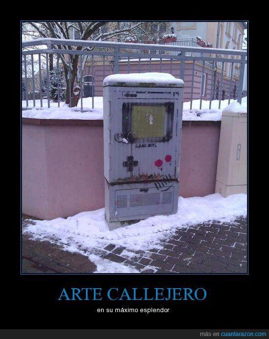 arte,calle,friki,gameboy,nintendo graffiti