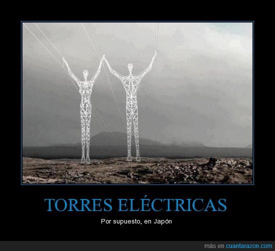 electricas,escultura,hombre,innovador,japon,persona,siempre,torres