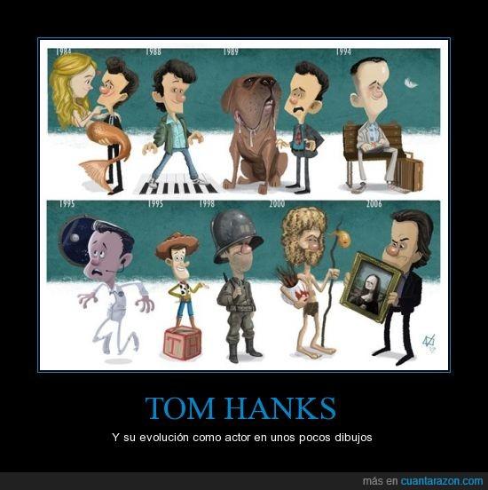 actor,evolución,famoso,naufrago,Tom Hanks,Toy story