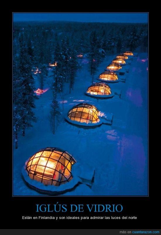 admirar,finlandia,frío,Iglús,luces,noche,Norte