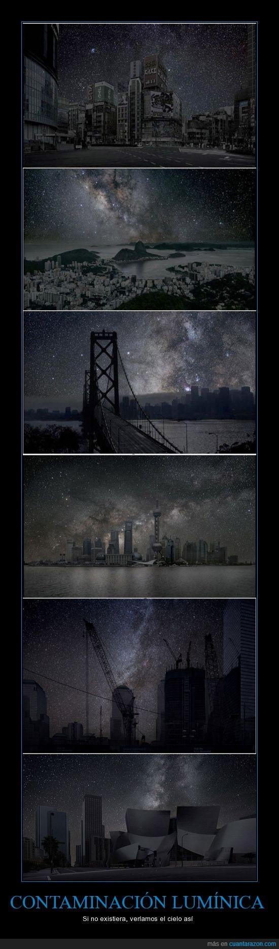 Belleza,Cielo,Ciudades,Contaminación,Contaminación lumínica,Estrellas
