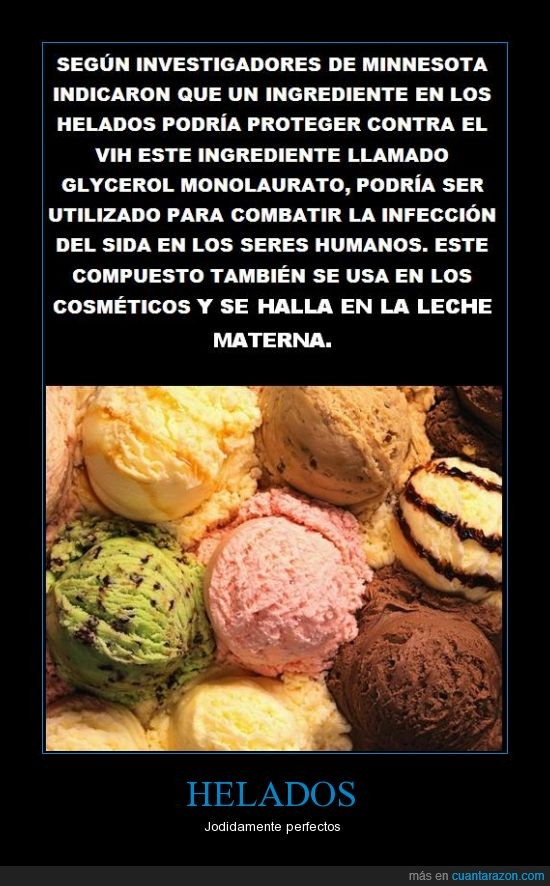 componente,helados,leche,salud,sida,vih