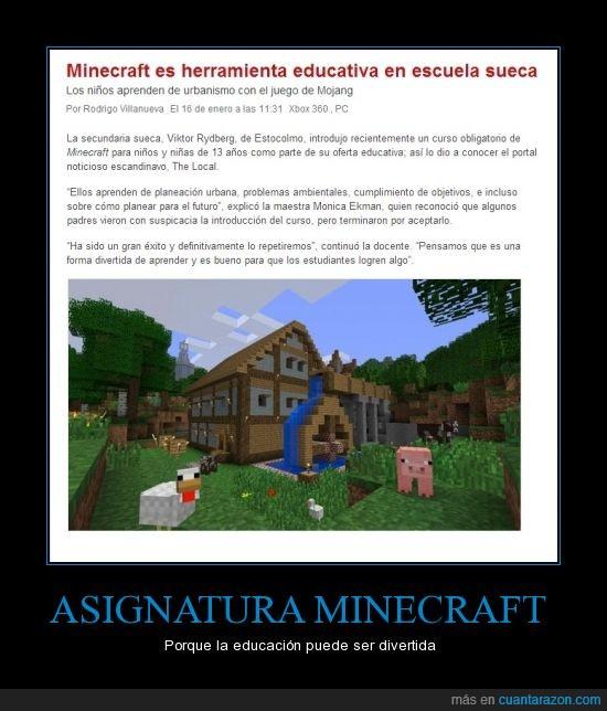 aprender,asignatura,colegio,educativo,escuela,juego,minecraft