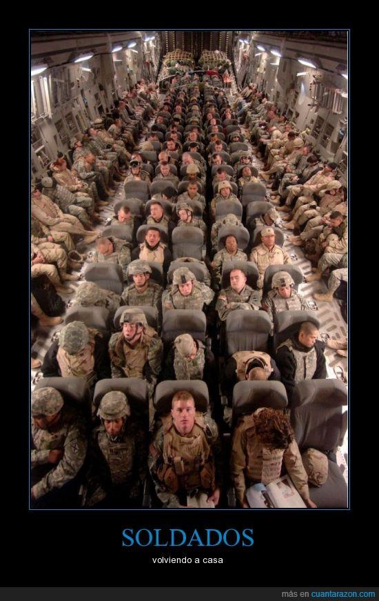 avion,casa,dormir,EEUU,soldados