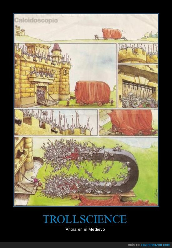armadura,caballeros,imanes,medieval,medievo,Medioevo,metal,muerte,Trollscience,victoria asegurada