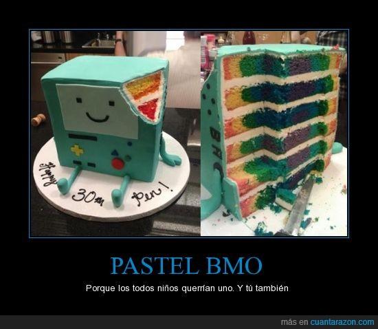 adventure time,BMO,colores,cumpleaños,hora de aventura,hora de aventuras,niños,pastel,quieres uno,tú