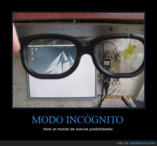 barco,especiales,gafas,oculto,pantalla incognito,secreto