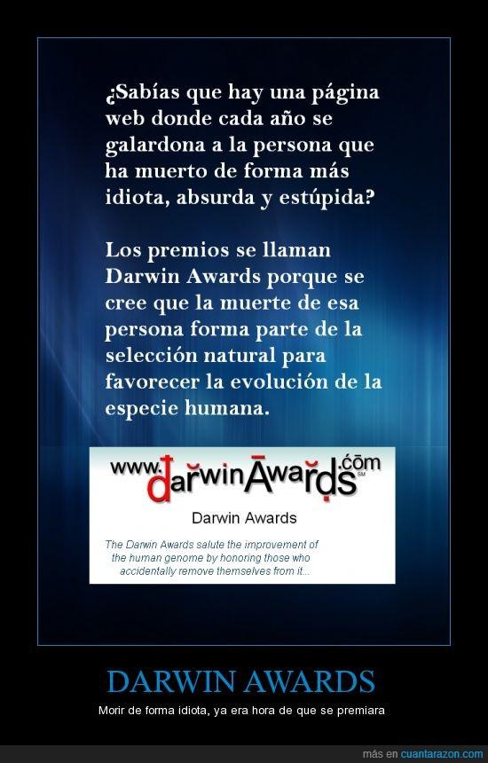 darwin,darwin awards,estupidez,evolucion,muerte,muerte tonta,premios