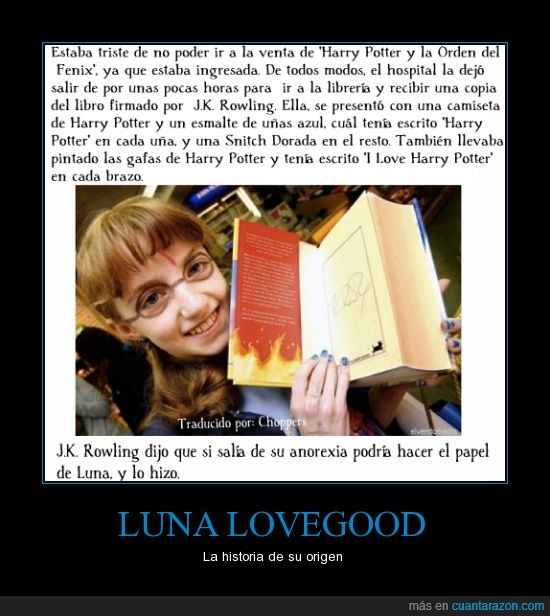 anorexia,evanna lynch,harry potter,luna lovegood,ravenclaw,rowling