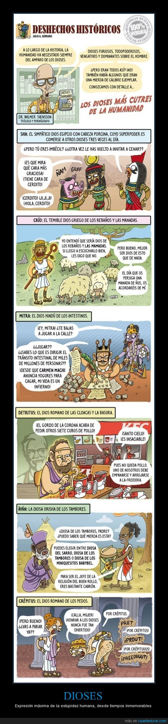 cutres,dioses,Egipto,estupidez,Grecia,Roma
