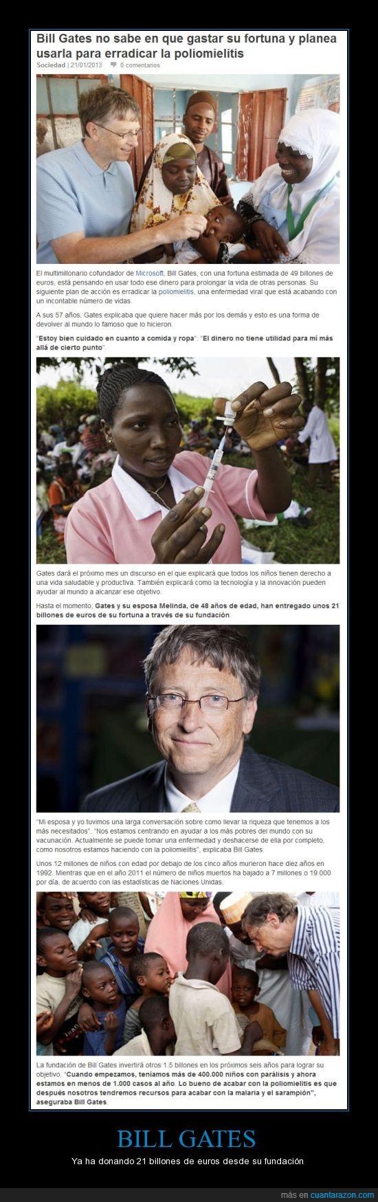 africana,Bill,Bill Gates,donación,Gates,Microsoft,poliomielitis,tribu