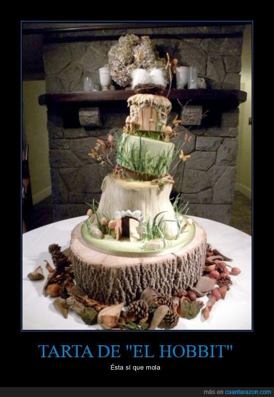 agujero,arbol,hobbit,pastel,tarta,tolkien