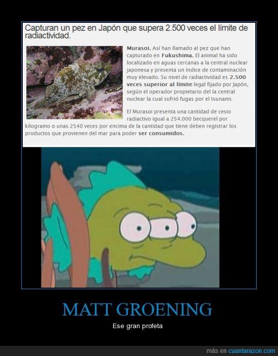 central,ese,futurama,gran,Groening,Guiñitos,Matt,nucelar,profeta,radioactividad,simpsons,y tal