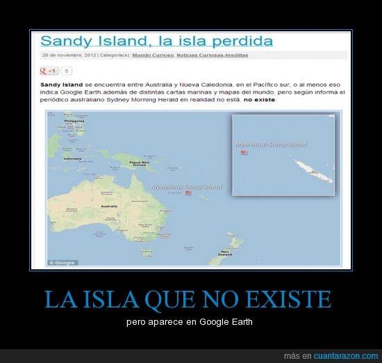 google earth,isla,no existe,perdida