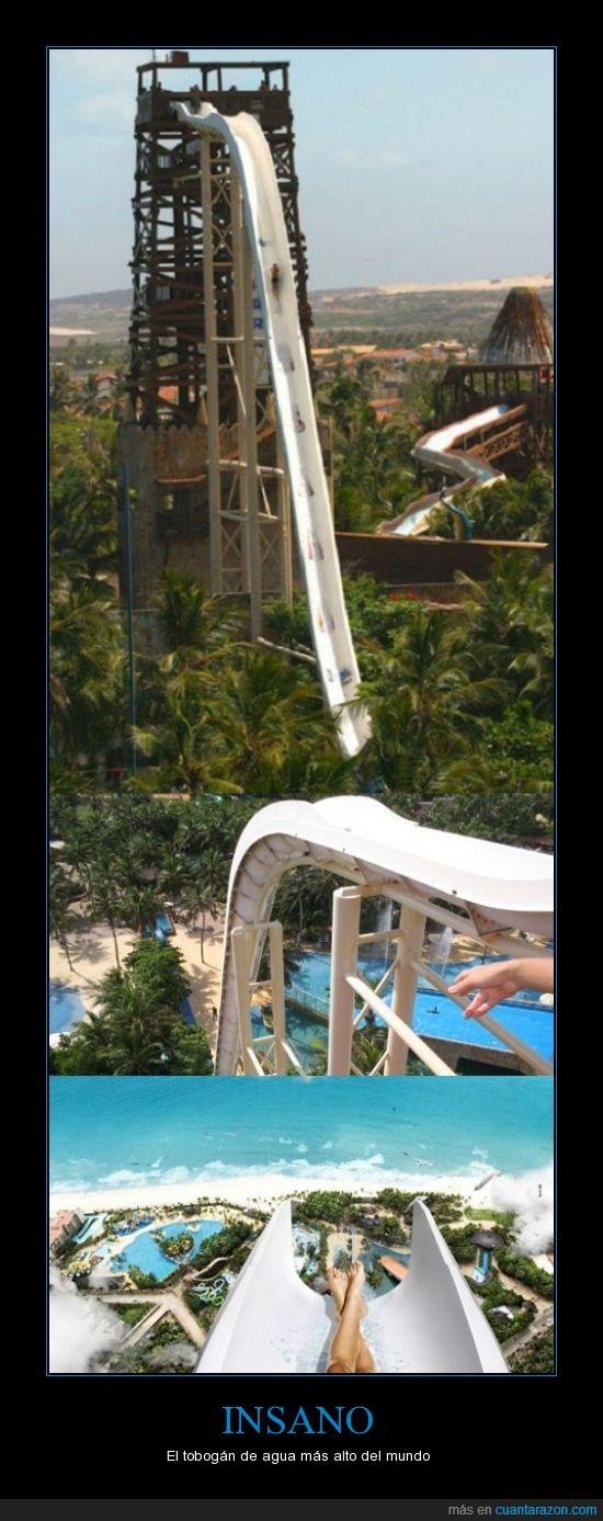 agua,alto,atreverse,brasil,miedo,tobogán