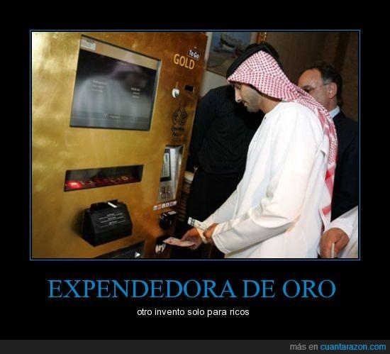 abu dhabi,arabes,emiratos,expendedora,maquina,money,oro,vending