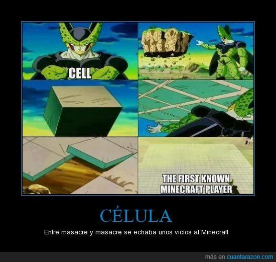 cell,dragon ball,gamer,goku,juego,minecraft